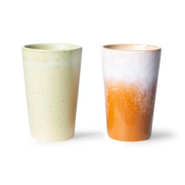 ACE7062 | 70s ceramics: tea mugs (set of 2) | HKliving - Eind november verwacht!