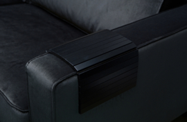 372406-Z | Armleuning flexibel dienblad zwart - m | WOOOD