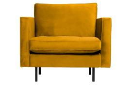 800888-132 | Rodeo classic fauteuil velvet oker | BePureHome