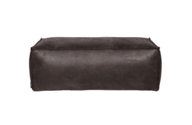 378610-Z | Rodeo Poef 43 x 120 cm black eco leather  | BePureHome