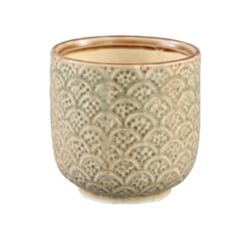 695592 | Everly cream ceramic votive pot round m | PTMD