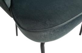 800172-S | Admit eetkamerstoel fluweel staalblauw | BePureHome