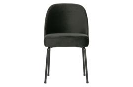 800816-Z | Vogue eetkamerstoel fluweel zwart | BePureHome