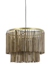 2950564 | Hanglamp Ø60x43 cm GULAG hout donker bruin | Light & Living