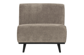 378654-L | Statement fauteuil brede platte rib clay | BePureHome