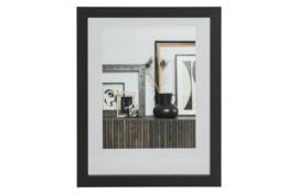 377094-Z | Blake fotolijst met houten rand zwart 50x40 | WOOOD Exclusive