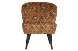 375690-F | Sara fauteuil fluweel fenix print | WOOOD