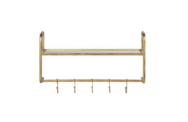 800638-A | Hatstand hangende kapstok antique brass | BePureHome