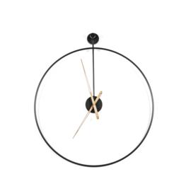 210084 | Klok Sundial small - black | By-Boo - Weer verwacht vanaf week 45!