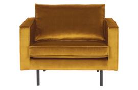 800541-132 | Rodeo fauteuil velvet oker | BePureHome
