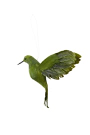 7456469 | Ornament hang 21 cm BIRD olijf groen | Light & Living - Binnenkort verwacht!