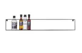 370110-Z | Meert wandplank metaal - zwart 100 cm | WOOOD