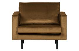 800541-14 | Rodeo fauteuil velvet honing geel | BePureHome