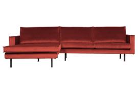800905-205 | Rodeo chaise longue links velvet chestnut | BePureHome