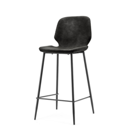 0893 | Bar chair Seashell low - black | By-Boo