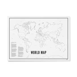 Poster World map - 50 x 70 | WIJCK.