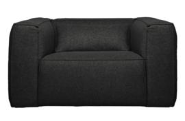 377317-D | Bean fauteuil incl. kussen donkergrijs gemeleerd | WOOOD Exclusive