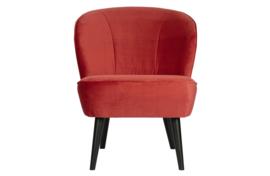 375690-P | Sara fauteuil fluweel raspberry | WOOOD