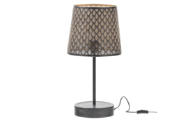 377283-Z | Kars tafellamp metaal zwart/antique brass | WOOOD Exclusive - Verwacht op 06-08!