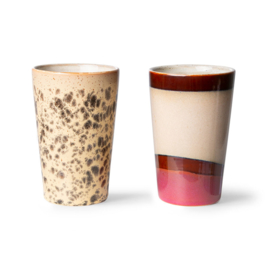 ACE7060 | 70s ceramics: tea mugs (set of 2) | HKliving - Eind november verwacht!