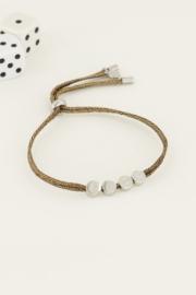 Touw armband luck - zilver | My Jewellery