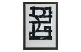 377095-Z | Blake fotolijst met houten rand zwart 70x50 | WOOOD Exclusive