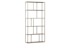 800081-B | Valued vakkenkast metaal antique brass | BePureHome
