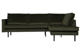 800971-156 | Rodeo hoekbank rechts velvet dark green hunter | BePureHome