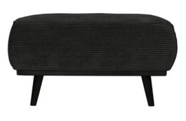 378663-G | Statement hocker brede platte rib graphite 80x55cm | BePureHome
