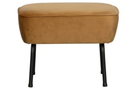 800218-910 | Vogue hocker fluweel mosterd | BePureHome