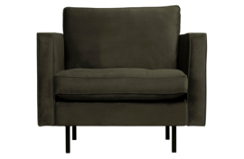 800888-156 | Rodeo classic fauteuil velvet dark green hunter | BePureHome