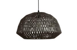 377102-Z | Kace hanglamp jute zwart ø45cm | WOOOD Exclusive