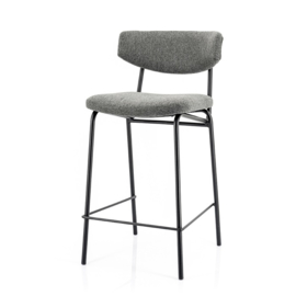 210028 | Bar chair Crockett - dark grey | By-Boo