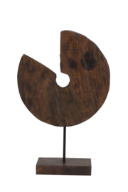 6983264 | Ornament op voet 30,5x8,5x47,5 cm ODION hout bruin | Light & Living