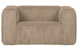 377316-RR | Bean fauteuil grove ribstof travertin | WOOOD Exclusive