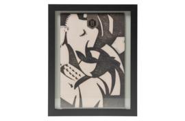 800630-Z   Shift fotolijst met houten rand large 50x40   BePureHome