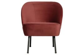 800748-C | Vogue fauteuil fluweel chestnut | BePureHome
