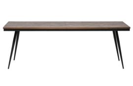 800951-N | Rhombic eettafel 220x90cm hout/metaal | BePureHome