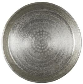1994-12 | Tray w/leaf pattern antique silver finish | Ib Laursen