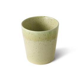 ACE6977 | 70s ceramics: coffee mugs, spring greens (set of 4) | HKliving