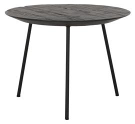 HI 301153 | Salontafel Jupiter zwart medium - Ø50 cm  | DTP Home