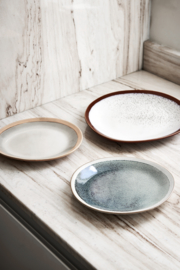 ACE6869 | Ceramic 70's dinner plate: frost | HKliving