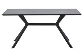 377219-Z | Bruno eettafel rechthoek mdf zwart - 160x90cm | WOOOD Exclusive