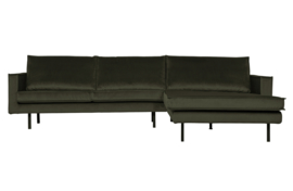800902-156 | Rodeo chaise longue rechts velvet dark green hunter | BePureHome