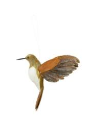 7456460 | Ornament hang 21 cm BIRD karamel+bruin | Light & Living - Binnenkort verwacht!