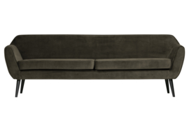 340480-G | Rocco XL sofa 230 cm fluweel - warm groen | WOOOD