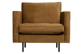 800888-14 | Rodeo classic fauteuil velvet honing geel | BePureHome