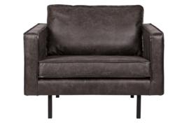 378608-Z | Rodeo fauteuil zwart | BePureHome