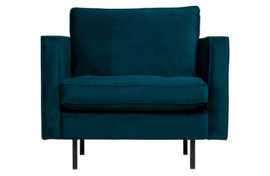 800888-45 | Rodeo classic fauteuil velvet blue | BePureHome