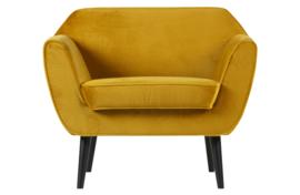 340454-132 | Rocco fauteuil fluweel oker | WOOOD